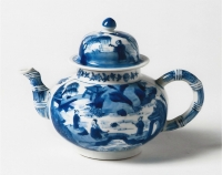 A blue and white teapot of Chinese porcelain