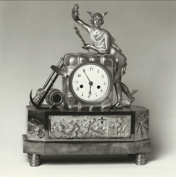 An Empire ormolu pendule (allegory of tobacco trade)