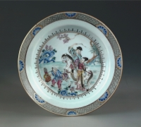A rare small famille rose porcelain dish