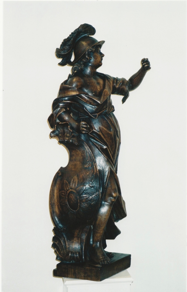 A Flemish oak sculpture of Mercure