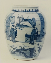 A large blue and white Chinese porcelain vase