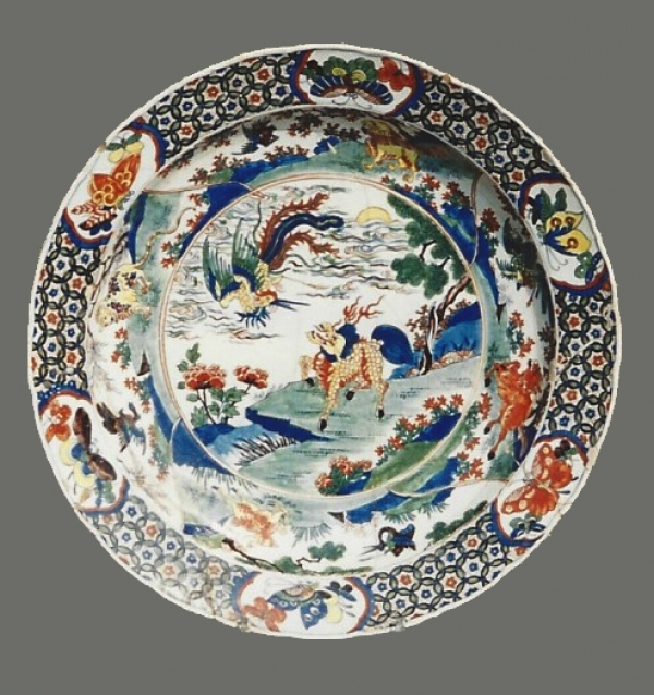 A Dutch Delft polychrome charger