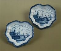 "A pair of blue and white Arita porcelain ""van Frijtom"" dishes"