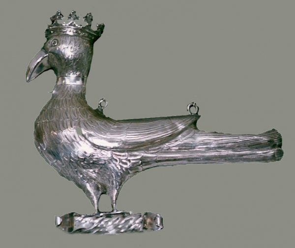 A Southern Dutch silver trophy bird