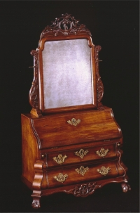 A Dutch mahogany Louis XV  toilet mirror