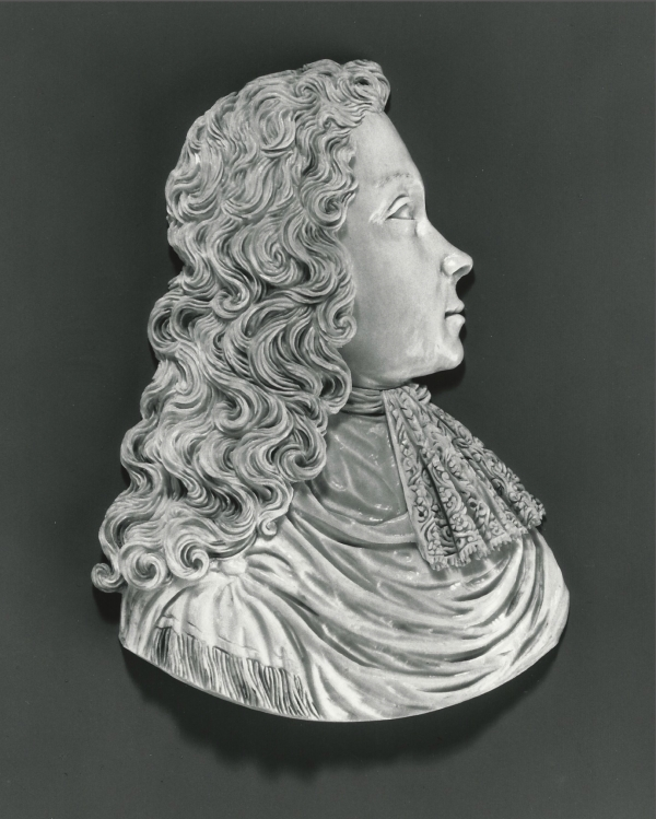 An ivory relief, portrait of a man