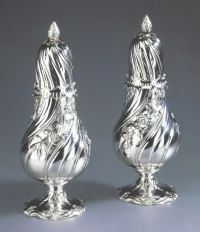 A pair of Dutch silver sugar-casters
