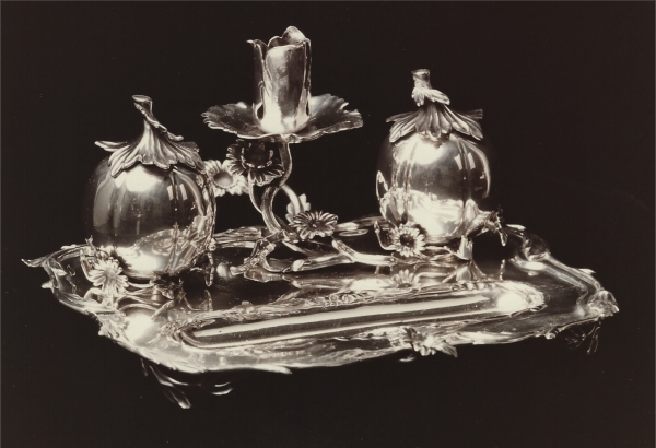 A Dutch silver inkstand