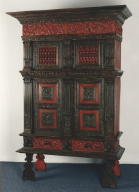 A Dutch painted cupboard, Hindeloopen